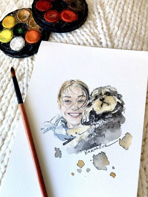 Image of dog artwork