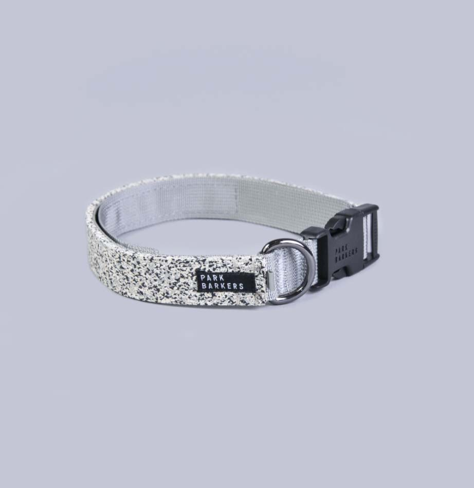 Grey Fitzroy dog collar from Park Barkers