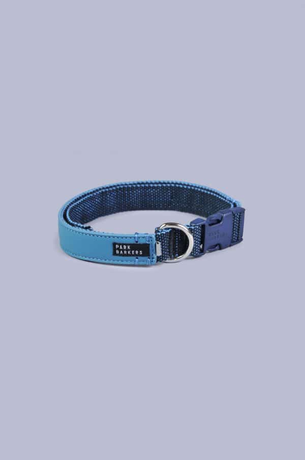 Blue dog collar from Park Barkers