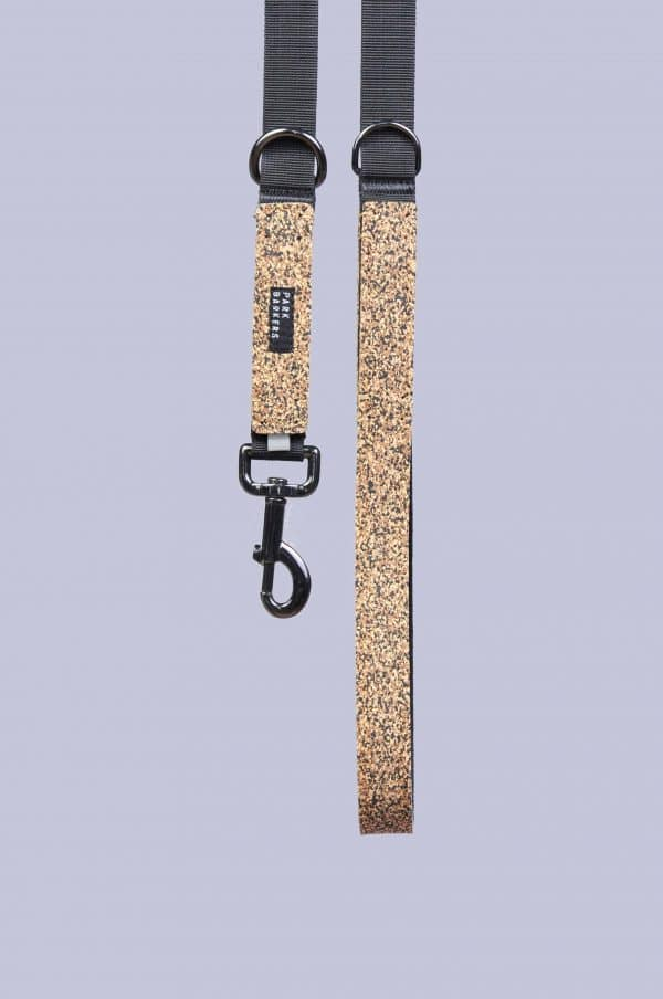 Tan dog leash from Park Barkers brand
