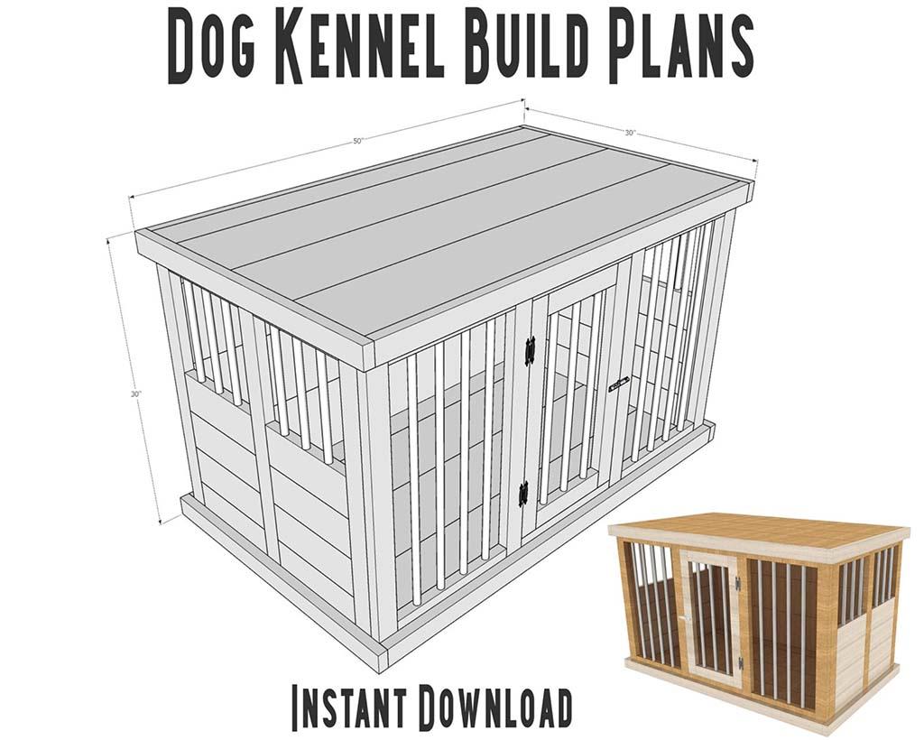 DIY plans for dog kennel