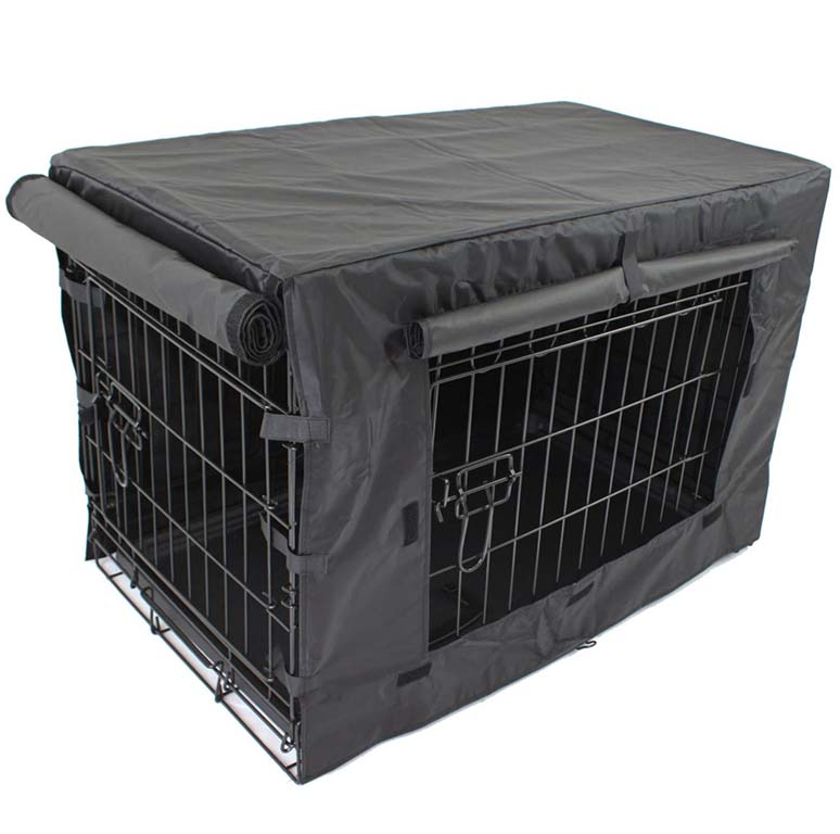 Dog crate with crate cover