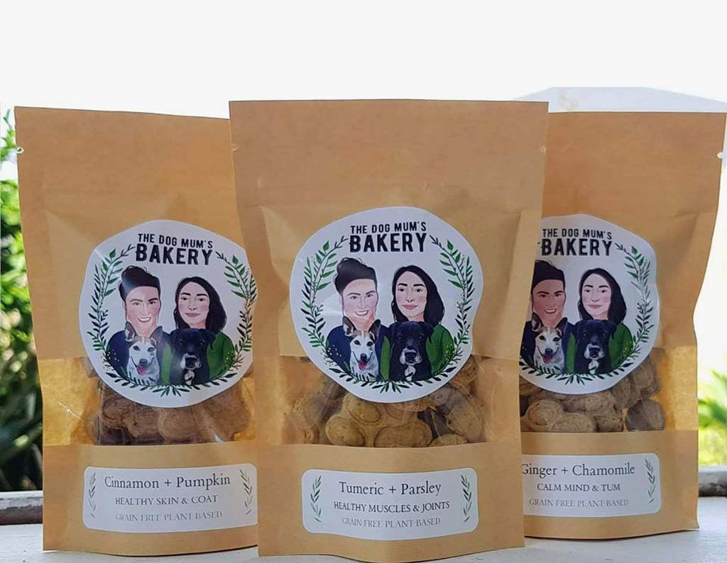Packaged backed dog treats