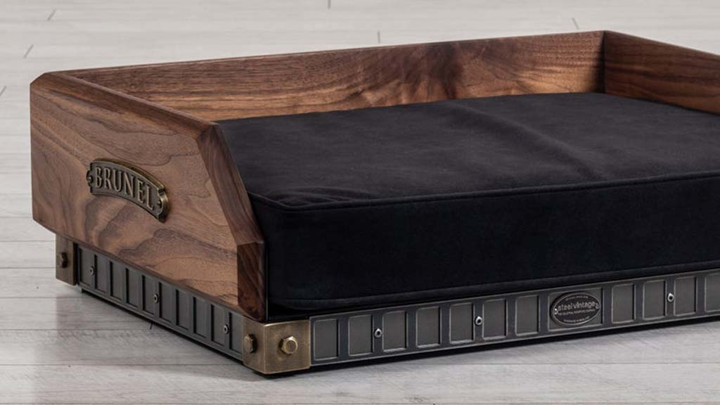 Luxury wooden dog bed